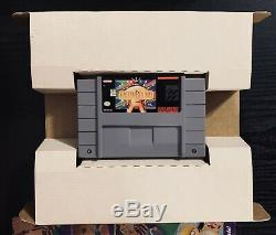 EarthBound Super Nintendo SNES CIB Complete in Big Box Cart Game Guide Authentic