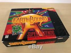 Earthbound Complete SNES Game Super Nintendo CIB Big Box Guide Earth Bound