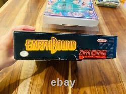 Earthbound Super Nintendo SNES Box Manual Complete CIB 100% Authentic a1