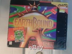 Earthbound Super Nintendo (SNES) Game, box and guide
