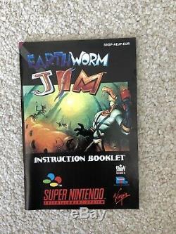 Earthworm Jim New Mint Collectors Super Nintendo SNES Boxed PAL CIB
