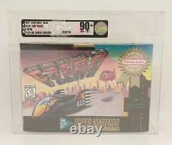 F-Zero (Super Nintendo SNES) Brand New, Sealed VGA Graded 90+ NM+/MT
