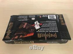 Final Fantasy III 3 Complete CIB Super Nintendo FF3 FFIII Game SNES