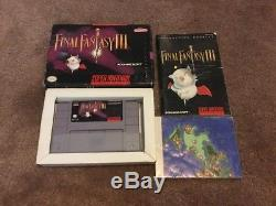 Final Fantasy III 3 Super Nintendo Complete CIB Box Manual & MAP SNES Authentic