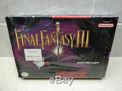 Final Fantasy III 3 (Super Nintendo) SNES Complete Near Mint Shrink on Box