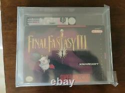 Final Fantasy III Snes Super Nintendo VGA 80 Holy Grail Not WATA Near Mint Rare