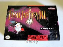 Final Fantasy III Super Nintendo SNES 100% Complete