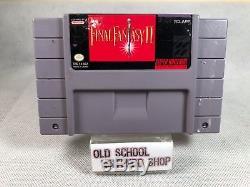 Final Fantasy II Super Nintendo SNES CIB Complete in Box