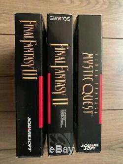 Final Fantasy Lot 2, 3, Mystic Quest, Complete CIB Super Nintendo SNES