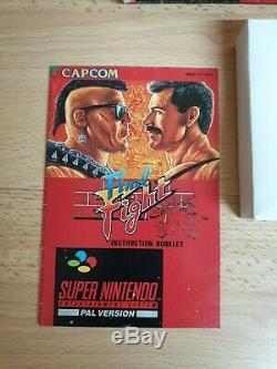 Final Fight SNES / Super Nintendo Game PAL CIB Tested