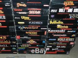 Huge Super Nintendo SNES Collection 5 Systems + 73 Games in Boxes Complete