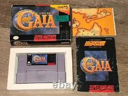 Illusion of Gaia Super Nintendo Snes Complete CIB withMap Authentic