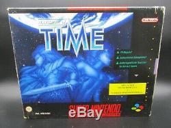 Illusion of Time BIG BOX OVP CIB SNES Super Nintendo TOP