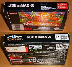 Joe & Mac 3 EUR SNES Super NES Nintendo PAL CIB OVP VGC RAR