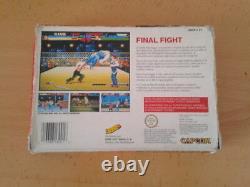 Juego Super Nintendo Snes Final Fight Erbe Con Caja Boxed Pal España Raro! R68