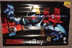 Killer Instinct Banner Poster Super Nintendo Vintage Near Mint Promo SNES 36X24