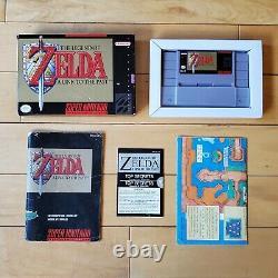 Legend of Zelda A Link to the Past Super Nintendo SNES 1992 CIB Box Manual Map