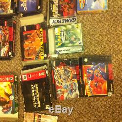 Lot 25+ empty box SNES Gameboy Super Nintendo 64 N64 Mario Donkey Kong Kart Land