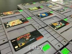 Lot Of 28 SNES Games Super Nintendo Game Bundle