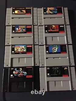 Lot Of 8 x Super Nintendo SNES Video Games (Mario, Killer Instinct, Etc)