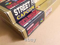 Lot STREET FIGHTER II 2 SNES Super Nintendo PAL Very Good + / NM CIB