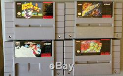 Lot of 14 SNES Games including Super Mario, Donkey Kong, Street Fighter