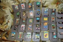 Lot of 46 Nintendo NES, SNES, Super Nintendo games untested AS IS. Many good TIT