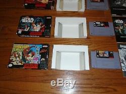 Lot of 4 CIB Super Nintendo SNES games including Zelda Aladdin Star Wars X-Men
