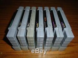 Lot of 7 Super Nintendo SNES games including Earthbound, Chrono Trigger, EVO +