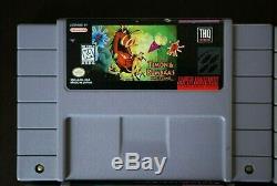 Lot of 9 Super Nintendo SNES Video Games Jungle Book, Tiny Toons, Top Gear
