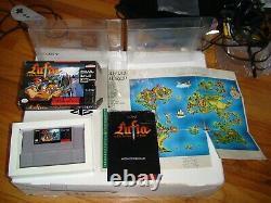 Lufia 1 2 Lot Fortress of Doom + Rise of the Sinistrals SNES Super Nintendo CIB