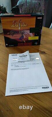 Lufia Big Box SNES Super Nintendo Ungeöffnet/NEU VGA Einmalige Chance