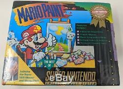 Mario Paint Super Nintendo SNES Brand New Factory Sealed