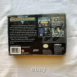 MechWarrior SNES Super Nintendo Box With Game and Inserts Vintage Video Games