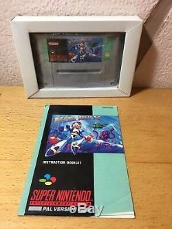 Mega MAN X MEGAMAN Super Nintendo SNES Juego Completo Pal Uk