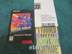 Mega Man 7 (Super Nintendo SNES) Complete CIB with Magazine + Poster