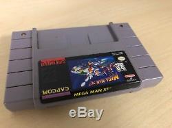 Mega Man X2 SNES Super Nintendo Game & Box X 2 II