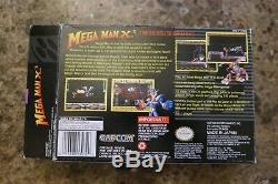 Mega Man X3 (Super Nintendo, SNES), 1995 Complete Box, Game, Tray, & Manual