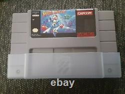 Mega Man X Super Nintendo Snes CIB Complete In Box Color Manual