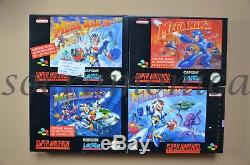 Mega Man X X2 X3 7 ALL BRAND NEW Pal Super Nintendo SNES Megaman X 2 3