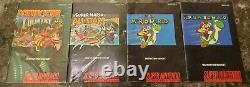 Mixed Super Nintendo SNES Instruction Manual & Box Lot 1 Game