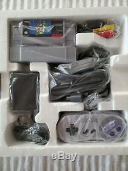 NEW Super Nintendo Entertainment System SNES Console BLACK BOX 1ST RELEASED