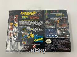 NEW Super Nintendo SNES Spider-Man X-Men Arcade's Revenge Sealed A4