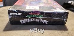 NEWithSEALED TEENAGE MUTANT NINJA TURTLES IV-TURTLES IN TIME Super Nintendo SNES
