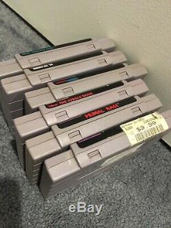 Nes & Super Nintendo Entertainment System SNES Game Lot Untested But Cleaned