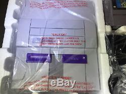 New In Box Super Nintendo SNES Launch Edition Gray Game Console Mario World