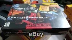 New Sealed 1995 Killer Instinct Super Nintendo SNES Original Version Brand NEW