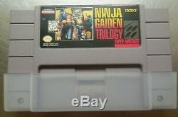 Ninja Gaiden Trilogy Authentic (Super Nintendo Entertainment System, 1995) snes