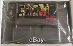 Ninja Gaiden Trilogy (Super Nintendo) Snes CIB 100% Complete Nr Mint Rare