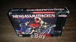 Ninja Warriors Taito Super Nintendo Snes Ex Authentic Box Only Very Rare